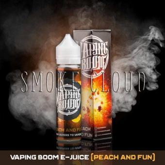 Жидкость Vaping Boom E-Juice 60 мл. Peach And Fun, жидкость вейпинг бум пич энд фан, жидкость мармеладные мишки с персиком, купить жидкость для вейпа недорого