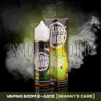 Жидкость Vaping Boom E-Juice 60 мл. Granny Care, жидкость вейпинг бум гренни кейр, ароматный бисквит с грушевым вареньем, вкусная жидкость для вейпа вейпинг бум купить недорого