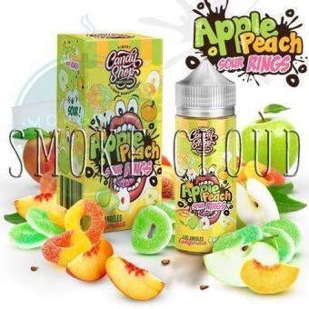 """Жидкость """"Candy Shop"""". 10 мл. Apple Peach Sour Rings, жидкость кэнди шоп эпл пич сур рингс, премильная жидкость в розлив недорого, жидкость с яблоком и персиком"""