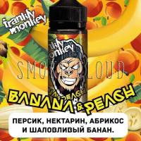 "Жидкость ""Frankly Monkey"". 120 мл. Banana & peach. 3 мг./мл."