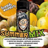 Жидкость Frankly Monkey 120 мл. Summer mix, купить жидкость франки манки блэк саммер микс, жидкость ананас дыня и манго купить, сладкая жидкость с ананасом