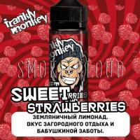 Жидкость Frankly Monkey 120 мл. Sweet Strawberries, жидкость франки манки свит строберри, земляничный лимонад жидкость купить недорого, сладкая земляника жидкость для вейпа