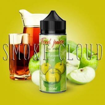 Жидкость FEED JUICE 120 мл. Яблочный сок, фид джус яблочный сок купить, купить жидкость фид дзус с доставкой недорого, яблочная жидкость для вейпа