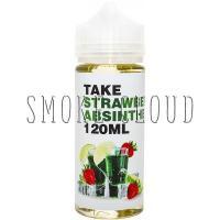 Жидкость TAKE White 120 мл. Strawberry Absinthe, жидкость для вейпа, электронные сигареты, жидкость с никотином, купить жидкость с доставкой, купить жидкость в чебоксарах, тейк, жидкость абсент, абсент с клубникой, жидкость с напитком