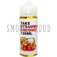Жидкость TAKE White 120 мл. Strawberry Coconut, жидкость для вейпа, электронные сигареты, жидкость с никотином, купить жидкость с доставкой, купить жидкость в чебоксарах, тейк, жидкость с клубникой, жидкость с кокосом, кокос клубника