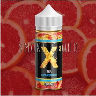 Жидкость X-3 Tea 120 мл. Grapefruit , жидкость для вейпа, электронные сигареты, жидкость с никотином, купить, купить жидкость с доставкой, купить жидкость в чебоксарах, жидкость чай, жидкость с грейпфрутом, чай с грейпфрутом