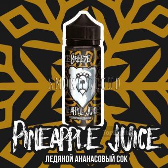 Жидкость Freeze Breeze 120 мл. Pineapple Juice, холодная жидкость с ананасом, купить холодную жижку, жидкость фризи бризи пайнепл джус, купить жидкость чебоксары