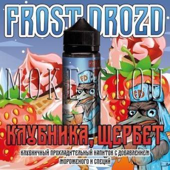 Жидкость Frost Drozd 120 мл. Клубника, Щербет, жидкость с клубникой, жидкость клубника щербет, фрост дрозд клубника щербет, заправка для вейпа с клубникой, купить жидкость в чебоксарах с клубникой
