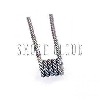Спираль TWISTED COIL 2 шт. (SS 316 2x0.4мм), твистед койл купить, намотка твистед койл, койлы твистед