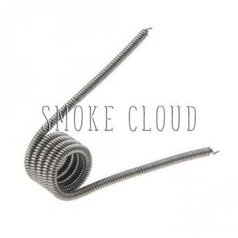 Спираль CLAPTON COIL 2 шт. (SS 1x0.4мм+Kantal 0.18мм), клэптон койл, спирали для вейпа, накрутка для дрипки, купить койлы чебоксары