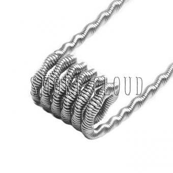 Спираль TWISTED CLAPTON COIL 2 шт. (2xSS 316 1x0.4мм+Kantal 0.12мм), койлы твистед клэптон койл, намотка твистед клептон