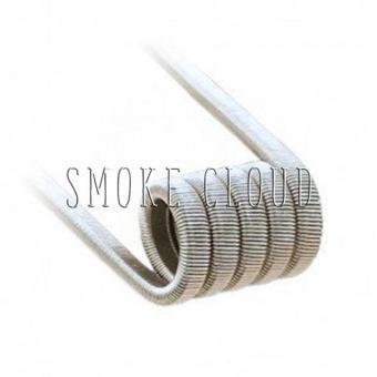 Спираль FUSED CLAPTON COIL 2 шт. (SS 2x0.4мм+SS Плоский 0.4мм x 0.2мм), спирали для вейпа, купить намотку для вейпа, фьюзы где намотать, койлы фьюзы купить