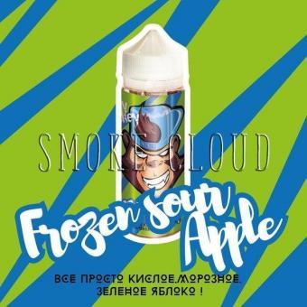 Жидкость Frankly Monkey 120 мл. Frozen sour Аpple, жидкость франки манки, франкли манки холодное яблоко, холодная жидкость с яблококом, купить жидкость с яблоком недорого