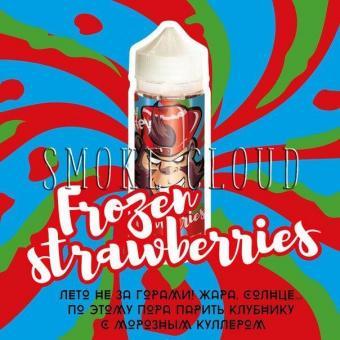 Жидкость FRANKLY MONKEY 120 мл. Frozen Strawberries, франки манки клубника, купить жидкость франки манки клубника с холодком, жидкость с холодком и клубникой купить в чебоксарах