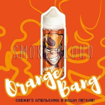 Жидкость FRANKLY MONKEY 120 мл. Orange Bang, купить жидкость франки манки оранж бэнг недорого, свежий апельсин жидкость, вкусная жидкость для вейпа с апельсином
